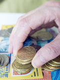 Holding Australian money royalty free stock photos