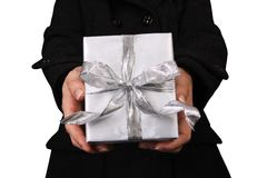 Holding Out a Present Stock Images