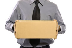 Holding A Package Stock Images