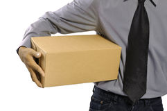 Holding A Package Stock Photos