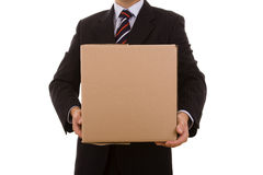 Holding the package Royalty Free Stock Images