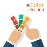 Holding  palette samples Stock Photography