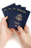 Holding passport Royalty Free Stock Photo