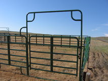 Holding Pen. For cattle when they are rounded up for transport Stock Photos