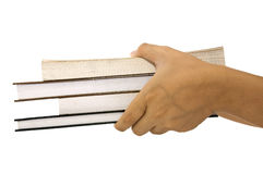 Holding A Pile Of Books Royalty Free Stock Photography