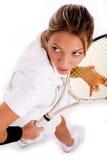 holding player racket tennis top view Στοκ Εικόνες