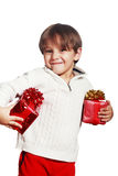 Holding present box Royalty Free Stock Photography