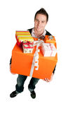 Holding presents Royalty Free Stock Image