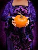 Holding Pumpkin Royalty Free Stock Photos