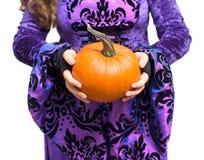 Holding Pumpkin Stock Photo
