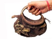 Holding purse Royalty Free Stock Photos