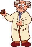 Holding Puzzle Cube Cartoon教授 向量例证