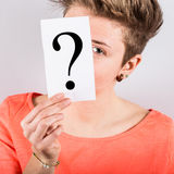 Holding Question Mark Stock Images