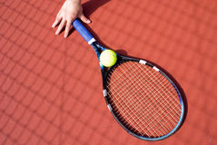 Holding the Racket Royalty Free Stock Photos
