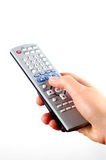 Holding remote control #3 stock photos