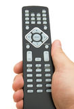Holding a remote control Royalty Free Stock Photography