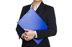 Holding a report Stock Photos