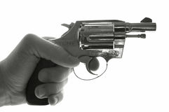 Holding a revolver royalty free stock images