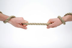 Holding the rope Royalty Free Stock Photography