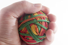 Holding Rubberband Ball Stock Photo