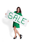 Holding Sale Sign Royalty Free Stock Photos