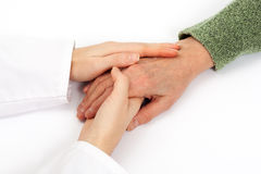 Holding senior hand care Stock Images