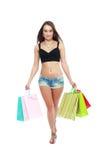 Holding shopping bags Stock Photos