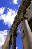 Holding the sky. One of the churches in the ancient city of Split, Croatia Stock Images