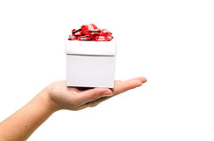 holding small gift Royalty Free Stock Images