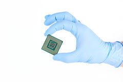 Holding Small Powerful Computer Processor Stock Photo