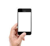 Holding smart phone Royalty Free Stock Photo