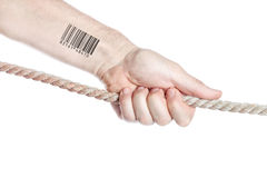 Holding society of restriction of personal privacy. Stock Photography