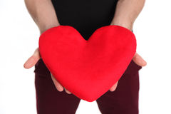 Holding a soft heart Royalty Free Stock Images