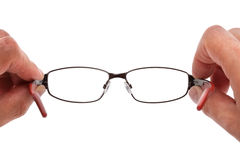 Holding spectacles Royalty Free Stock Photography