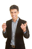 Holding a speech Royalty Free Stock Image