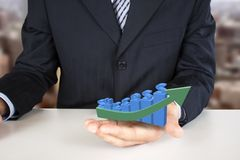 Holding success 3d chart Royalty Free Stock Images