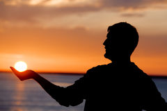 Holding the Sun Royalty Free Stock Photo