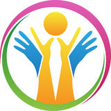 Holding sun in hands. A vector drawing represents holding sun in hands design Stock Photos