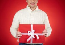 Holding surprise Royalty Free Stock Photo