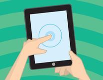 Holding Tablet Stock Photography
