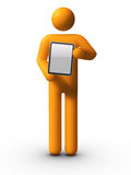 Holding Tablet PC Stock Photography