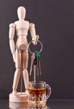 Holding-Tasten über Whisky Stockfoto