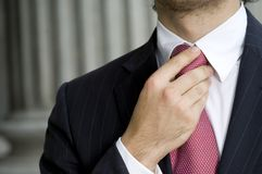 Holding Tie Stock Photography