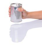 Holding a Tin Can I Stock Photos