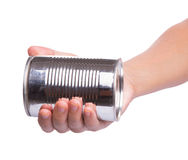 Holding a Tin Can III Royalty Free Stock Images