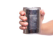 Holding a Tin Can IV Stock Image