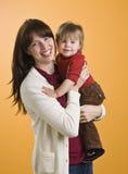 holding toddler woman στοκ εικόνες