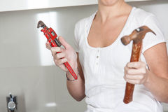 Holding tools stock images