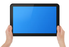 Holding Touch Screen Tablet Royalty Free Stock Photography
