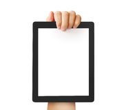 Holding touch screen tablet Royalty Free Stock Photos
